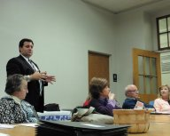 Anthony J. Panella, Superintendent Amherst Central School, discussing Capital Improvement Project
